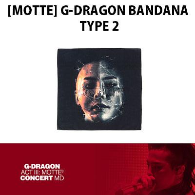 【公式グッズ】[MOTTE] G-DRAGONバンダナタイプ2