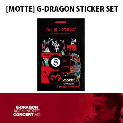 【公式グッズ】[MOTTE] G-DRAGON ステッカーセット