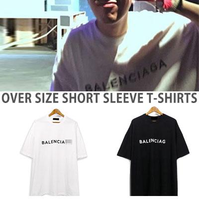 Block B P.O style!シンプルフロントロゴポイントショートスリーブtシャツ/OVER SIZE SHORT SLEEVE T-SHIRTS