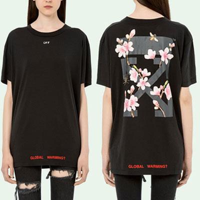 フラワー&アロープリントショートスリーブTシャツ/半袖