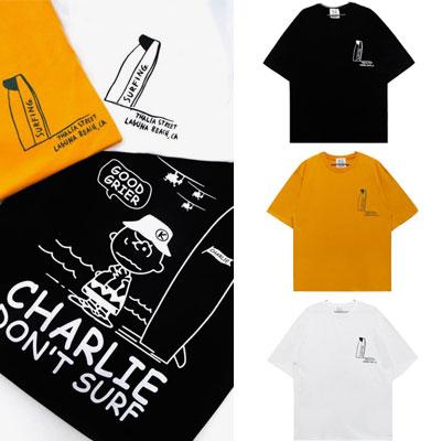 チャーリーサーフプリントショートスリーブTシャツ/半袖