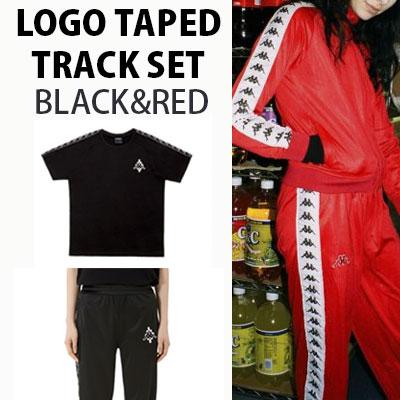 (SET-5%OFF) ロゴテーピングトラックセット(BLACK,RED)