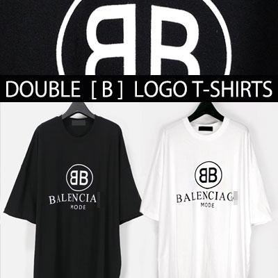 ダブル[B]のロゴショートスリーブTシャツ