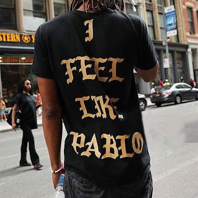 KANYE st. I FEEL LIKE ゴールドのロゴショートスリーブTシャツ/半袖