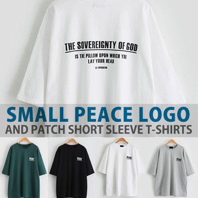 スモールピースのロゴ&パッチショートスリーブTシャツ/半袖