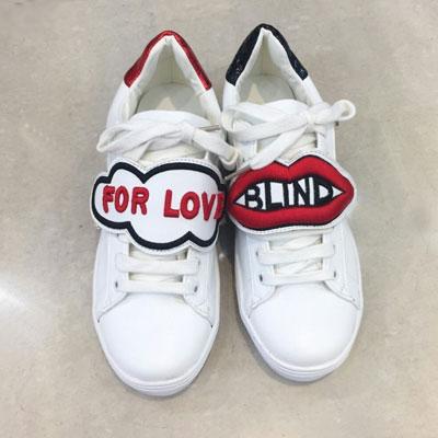【RANG SHE】 [23.0~25.0cm]BLIND FOR LOVE ホワイトスニーカーシューズ/靴