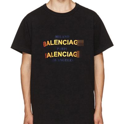 レインボーロゴプリントショートスリーブTシャツ/半袖