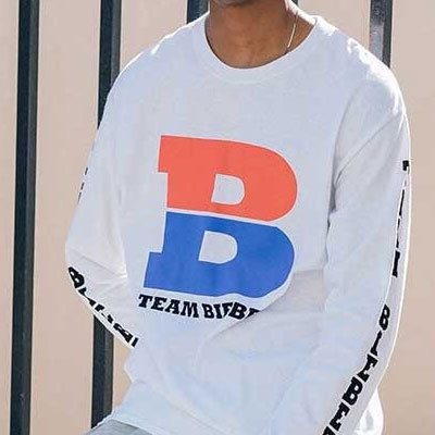 BIEBER STYLE! ツアーバイクロングスリーブTシャツ/長袖/(BLACK/WHITE)