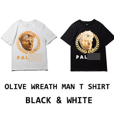 OLIVE WREATH MAN Tシャツ(ブラック/ホワイト)