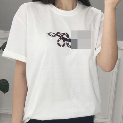 ロゴスネイクTシャツ(ブラック/ホワイト)