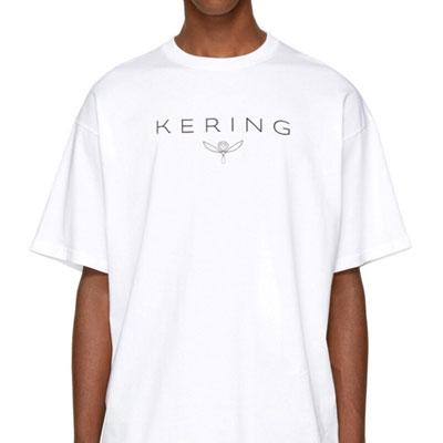 レタリングTシャツ/ブラック、ホワイト