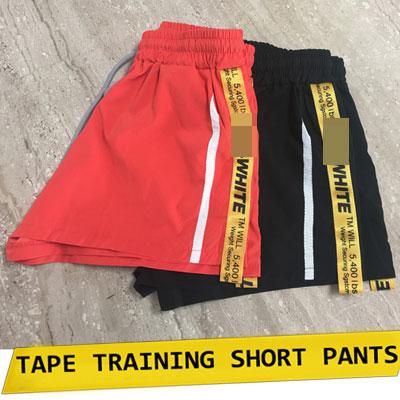 【FEMININE : BLACK LABEL】テープトレーニングショートパンツ/オレンジ、黒