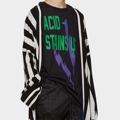 スパークプリントショートスリーブTシャツ/半袖