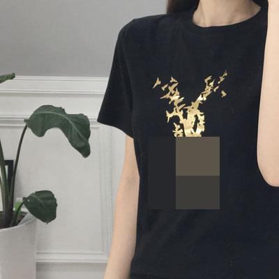 ゴールドバードロゴショートスリーブTシャツ(ブラック/ホワイト)/半袖