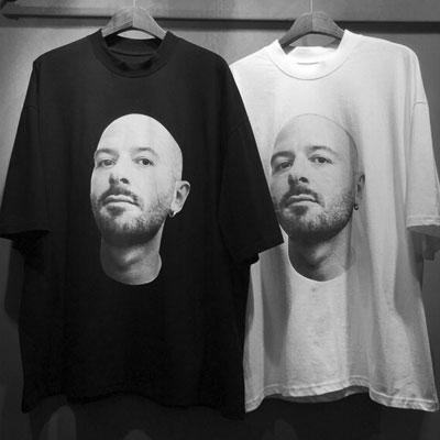 [再入荷]マンフェイスショートスリーブTシャツ/半袖