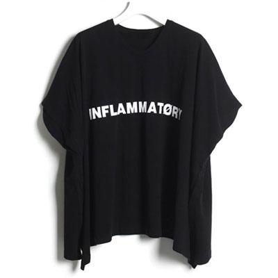 スクエアパターンTシャツ(ブラック/ホワイト)