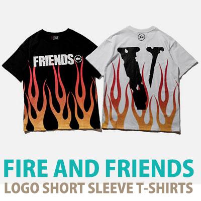 ファイア&フレンズロゴショートスリーブTシャツ/半袖