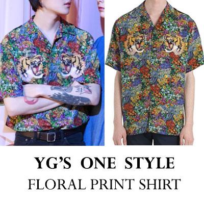 YG'S ONE STYLE! タイガーフローラルプリントシャツ
