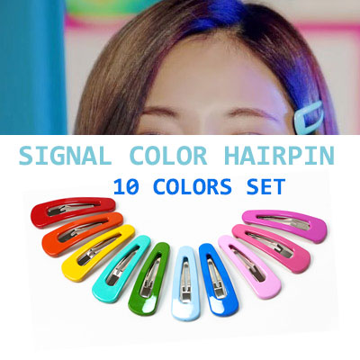 TWICE STYLE! シグナルカラーヘアピンセット(10色)