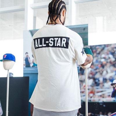 ALL STAR半袖Tシャツ(ブラック/ホワイト)