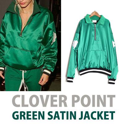 クローバーグリーンサテンジャケット