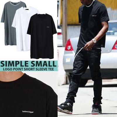 シンプルスモールロゴポイントショートスリーブTシャツ/半袖