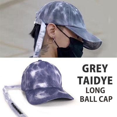 BIGBANG GD、g-dragon st)グレー染色ロングストラップボールキャップ
