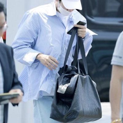 EXO CHAN-YEOL STYLE!ビッグショッパーバック(ブラック/グレー)