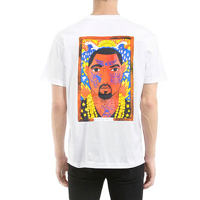 KANYE バックプリントTシャツ(ブラック/ホワイト)