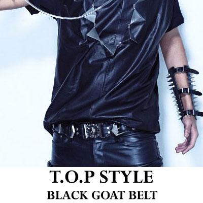 BIGBANG BLUE PV,アルバムジャケットでよく見られるあのベルト!!!ジードラゴンもTOPも愛用◆BAL**st Goatベルト