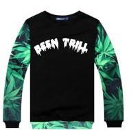 ★★SALE★★BBEENTRILLst.マリファナプリントトレーナー大人気のストリートファッション