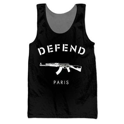 ★★SALE★★海外セレブ着用@Defend Paris Motive Basic Point袖なし(男女着用・2Color)