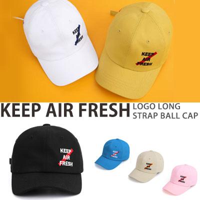 KEEP AIR FRESH ロゴロングストラップボールキャップ