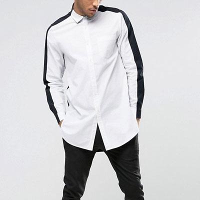 2トーンホワイト&バックカラーシャツ