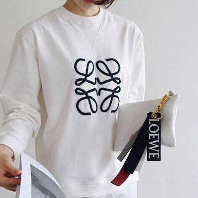 【FEMININE : BLACK LABEL】ブレディドロゴスウェットシャツ(ブラック/ホワイト/グレー)