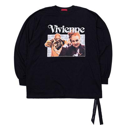 ヴィヴィアンプリントサイドテープロングスリーブTシャツ