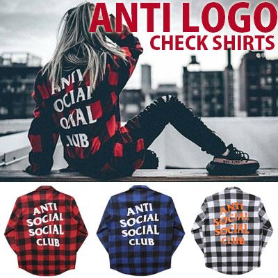 [unisex]CLUB ロゴチェックシャツ(3color)