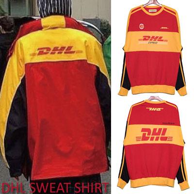 [unisex]DHLラインスウェットシャツ
