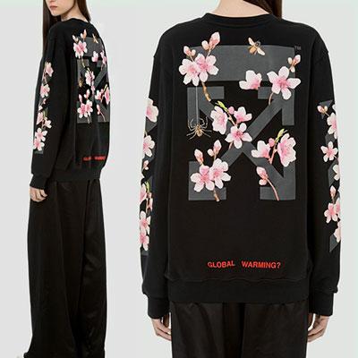 [unisex]サクラプリントスウェットシャツ(2color)