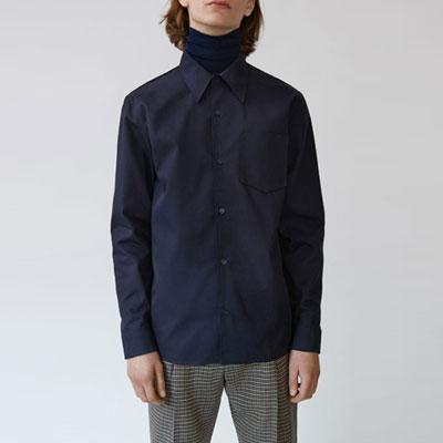 [UNISEX] スリムナチュラルポケットシャツ(3color)