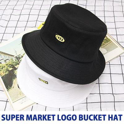 [UNISEX] スーパーマーケットのロゴバケットハット(2color)