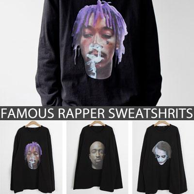 [UNISEX] FAMOUS ラッパーフェイススウェットシャツ(3type)