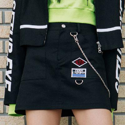 [SETUP-EXE]チェーンスカート - ブラック