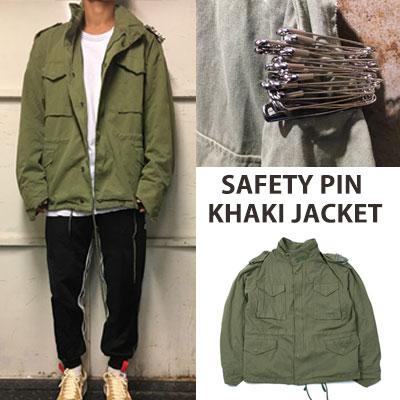 [UNISEX] セーフティピンカーキジャケット