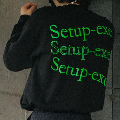 [SETUP-EXE]DリングウェーブTシャツ - ネオングリーン