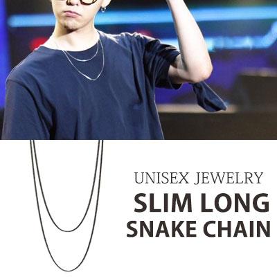 [UNISEX] [1ea]BIGBANG G-DRAGON/GD スリムロングスネークチェーンネックレス (70cm)