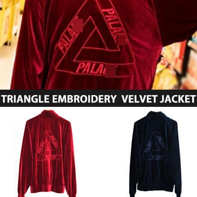 [UNISEX] トライアングル刺繍ベルベットのジャケット(2color)