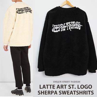 [UNISEX] ラテアートst. ロゴシェルパスウェットシャツ(2color)