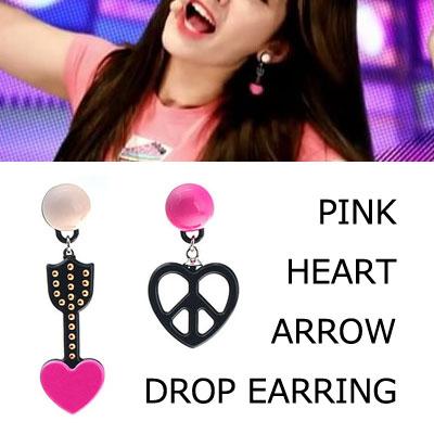 [正規品協賛]IOI Jeon Somi st. ピンクのハートアロードロップイヤリング