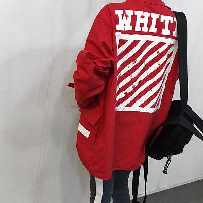 [UNISEX] レッドダイアゴナルサイドストラップワークジャケット (2size)